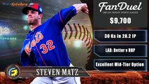 FanDuel Picks - MLB Pitchers For Daily Fantasy Baseball 5-9-16