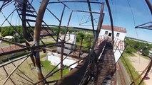Urban Exploring Climbing Historical 250ft Grain Elevator GoPro 2