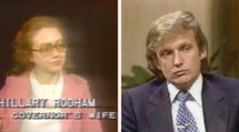 What Hillary Clinton and Donald Trump were like in their 30s