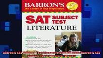 FREE EBOOK ONLINE  Barrons SAT Subject Test Literature with CDROM Barrons SAT Subject Test Literature Full Free