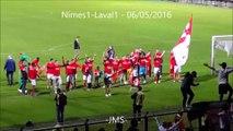 Nimes1/Laval1-joie-partages des joueurs a la fin-ambiance-entree des joueurs-supporters-breves du match-06/05/2016