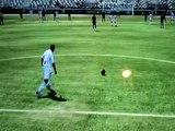 FIFA 09 But goal extraordinaire Ronald ZUBAR coup franc milieu du terrain Marseille