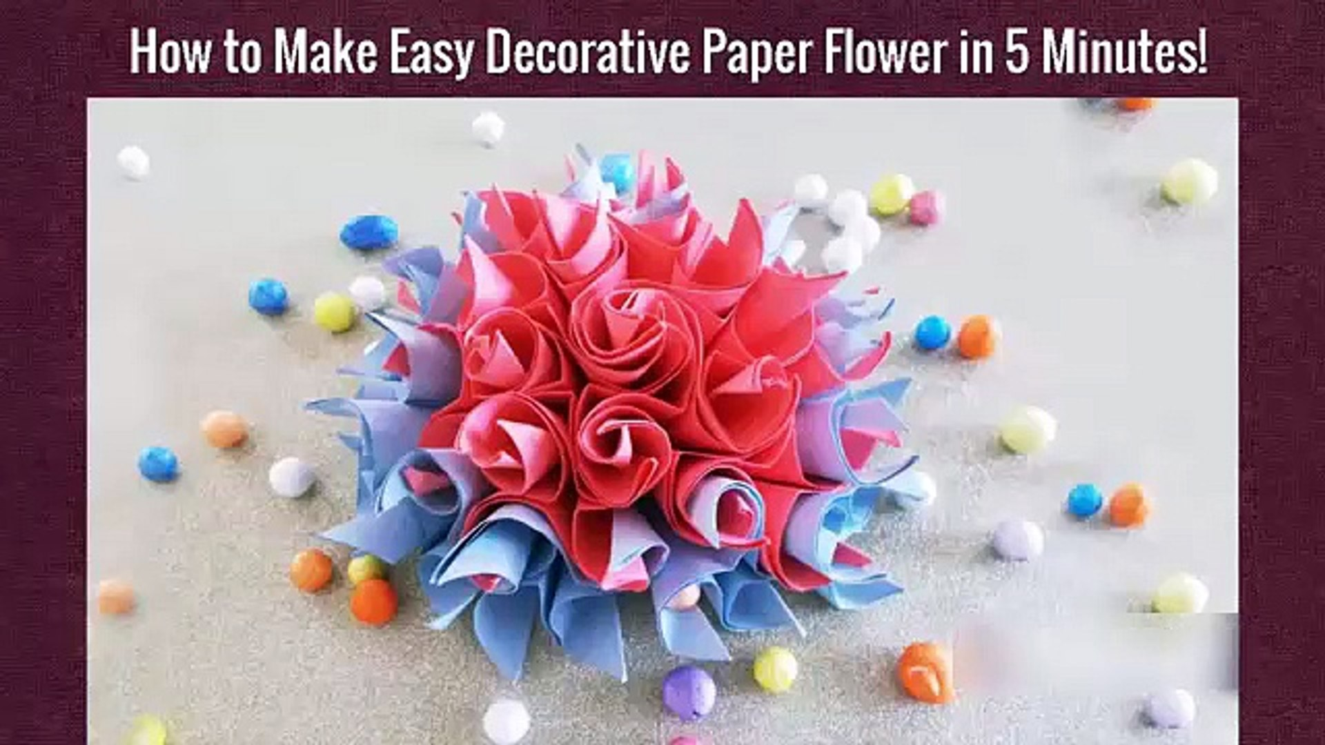 Folding Paper Flowers (8 Petals) | Kids' Crafts | Fun Craft Ideas ... | 1080x1920