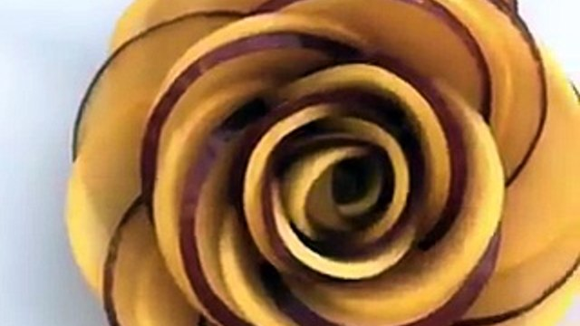 Creative way to make foods like roses