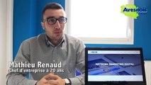 Développement Économique des Territoires - Mathieu, jeune chef d'entreprise de 20 ans
