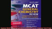 Read Book Kaplan MCAT General Chemistry Review Notes (Kaplan Test