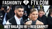 Met Gala Red Carpet 2016 pt. 1 ft. Gigi Hadid & Karlie Kloss   FTV.com