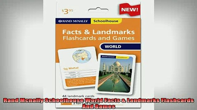 READ book  Rand Mcnally Schoolhouse World Facts  Landmarks Flashcards And Games Full EBook