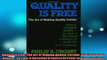 READ book  Quality Is Free The Art of Making Quality Certain How to Manage Quality  So That It Full EBook