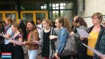 Les parents les professeurs et les élèves se mobilisent contre la fermeture d'une classe au lycée Nerval de Soissons