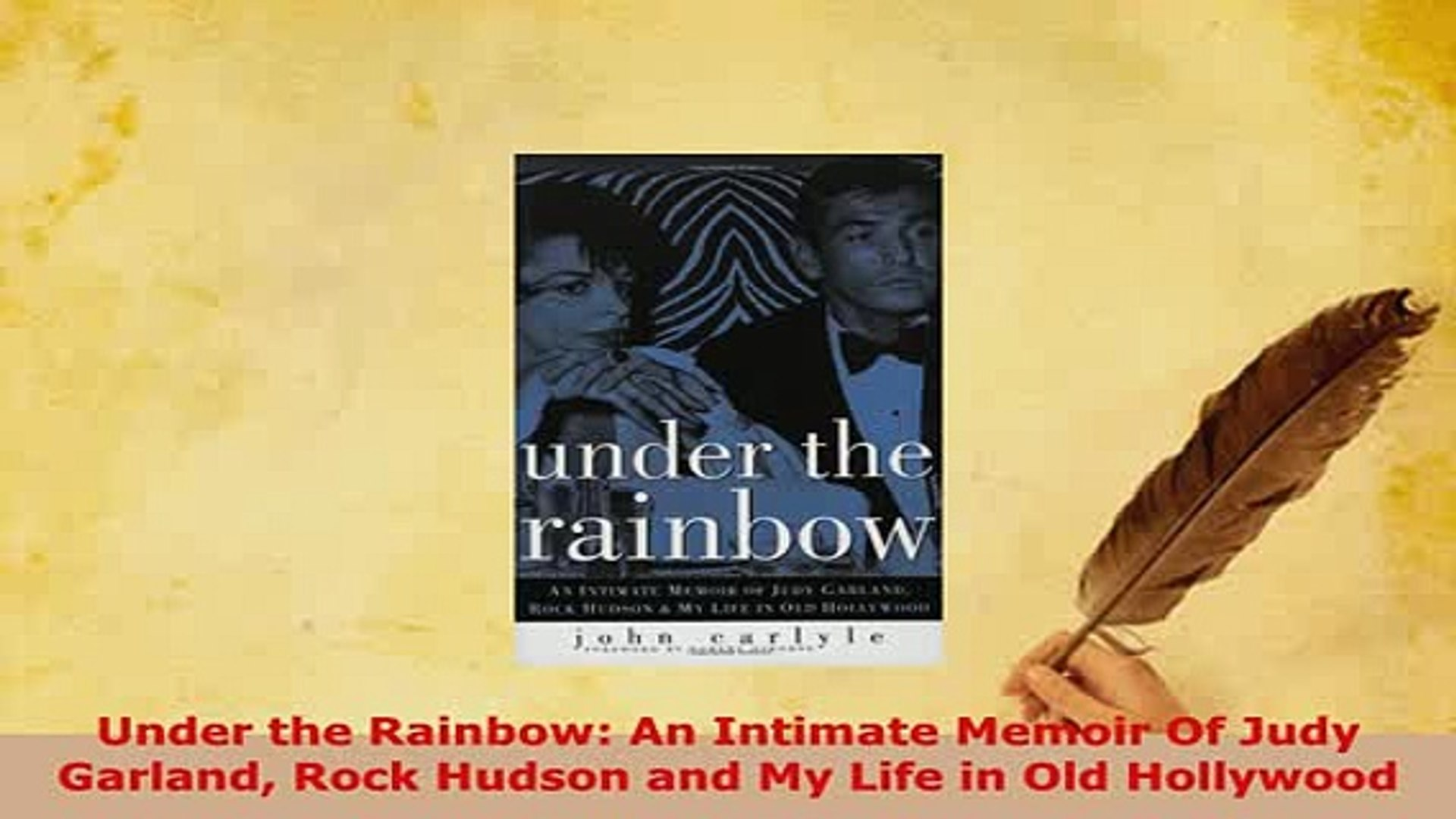 PDF  Under the Rainbow An Intimate Memoir Of Judy Garland Rock Hudson and My Life in Old Free Books