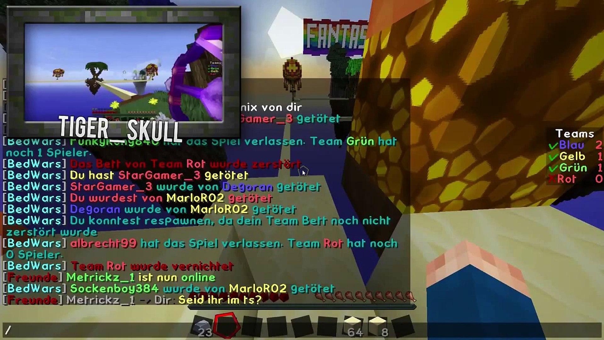 Zusammen in die #Freiheit   Minecraft BedWars DE HD 60fps   Tigeron