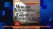 Downlaod Full PDF Free  Mergers Acquisitions and Corporate Restructurings Wiley Mergers and Acquisitions Library Full EBook