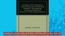 FREE PDF  Lambers CPA Review 2 Accounting and Reporting Taxation Managerial Governmental and  BOOK ONLINE
