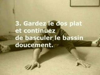 Stretching étirement assouplissement : l'écrasement facial