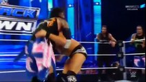 WWE SmackDown 2016 Roman Reigns and The Usos vs Aj Styles, Luke Gallows and Karl Anderson