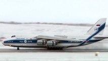 Volga-Dnepr Antonov 124 Arctic Landing Iqaluit.