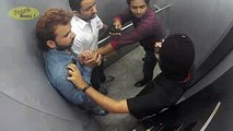 People Trapped With Killers In Lift Caught On CCTV