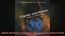 READ book  Liquids and Gases Principles of Fluid Mechanics Secrets of the Universe Full EBook