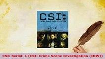Download  CSI Serial 1 CSI Crime Scene Investigation IDW Ebook