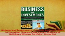 Download  Business and Investments Complete Beginners Guide to Investing Finance Make Money Stocks PDF Online