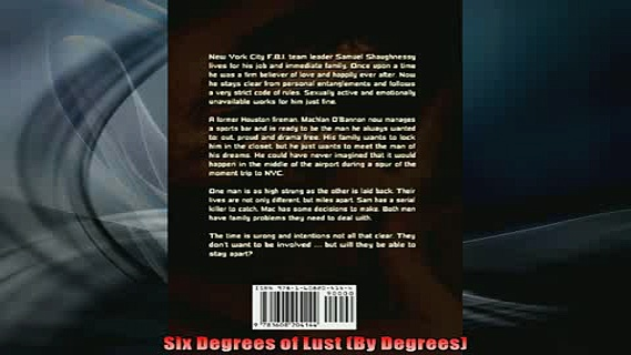 FREE PDF  Six Degrees of Lust By Degrees  DOWNLOAD ONLINE