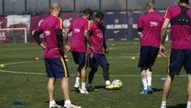 FC Barcelona training session: Back to work with La Liga decider in mind