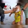 Rafathar Malik Ahmad Senang Maen Air Di pantai l Raffi Ahmad & Nagita Slavina