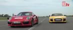 Cara a cara: Porsche 911 Turbo S contra Audi R8 V10