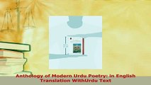 Download  Anthology of Modern Urdu Poetry in English Translation WithUrdu Text  EBook
