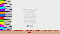 PDF  Extreme Ownership How US Navy SEALs Lead and Win Read Online
