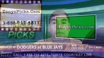 LA Dodgers vs. Toronto Blue Jays Pick Prediction MLB Baseball Odds Preview 5-8-2016