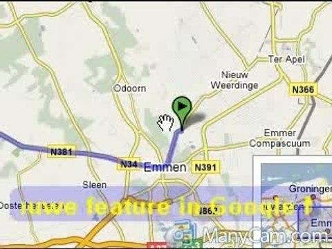 GoogleMap demo met ManyCam