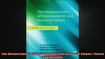 READ book  The Measurement of Environmental and Resource Values Theory and Methods Full Free