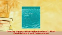 PDF  Futures Markets Routledge Revivals Their Establishment and Performance Read Full Ebook