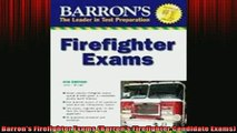 READ FREE FULL EBOOK DOWNLOAD  Barrons Firefighter Exams Barrons Firefighter Candidate Exams Full Free