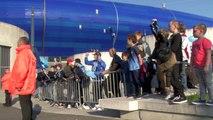 Avant HAC - Bourg-en-Bresse : l'arrivée des joueurs au Stade Océane