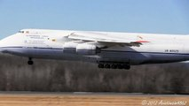 Antonov 124 Landing Runway 24 At Bradley