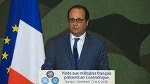 Discours aux militaires français présents en Centrafrique