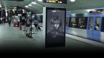 Billboard ads in subway station for Children's Cancer Foundation