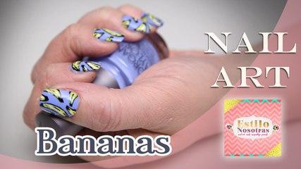 Bananas, Nail Art by Luli Gugli | ESTILO NOSOTRAS