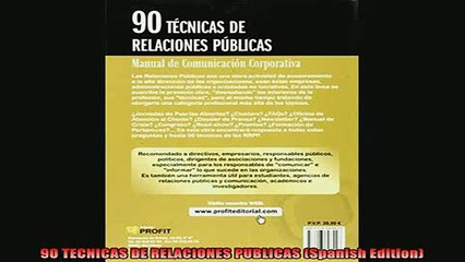 FREE EBOOK ONLINE  90 TECNICAS DE RELACIONES PUBLICAS Spanish Edition Full EBook