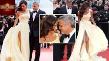 George Clooney's Wife Amal Clooney STRUGGLES With Dress | Cannes Film Festival 2016 | Hollywood Asia