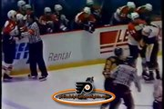 Feb 11, 1990 Linebrawl Pittsburgh Penguins vs Philadelphia Flyers NHL