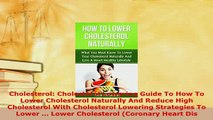 PDF  Cholesterol Cholesterol Lowering Guide To How To Lower Cholesterol Naturally And Reduce Download Full Ebook