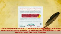 Download  The Everything Guide To The Blood Sugar Diet Balance Your Blood Sugar Levels to Reduce PDF Online