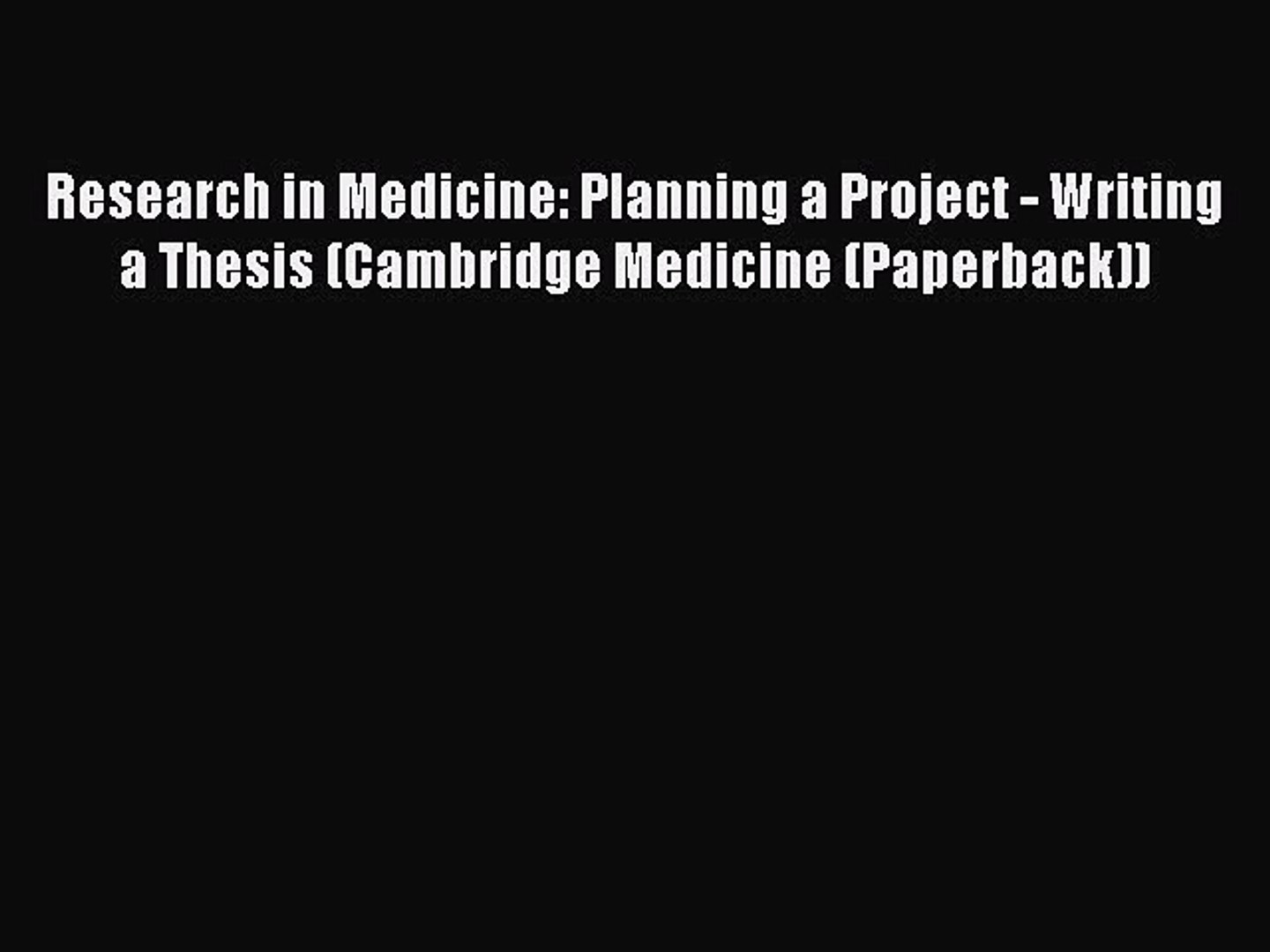 formulate a detailed plan for a research project