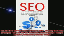READ book  Seo The New SEO Optimization Strategy 2016  Amazing Marketing Strategies To Get On The Full EBook