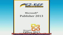 READ book  Microsoft Publisher 2013 Student Manual  FREE BOOOK ONLINE