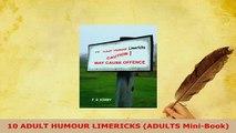 PDF  10 ADULT HUMOUR LIMERICKS ADULTS MiniBook Free Books